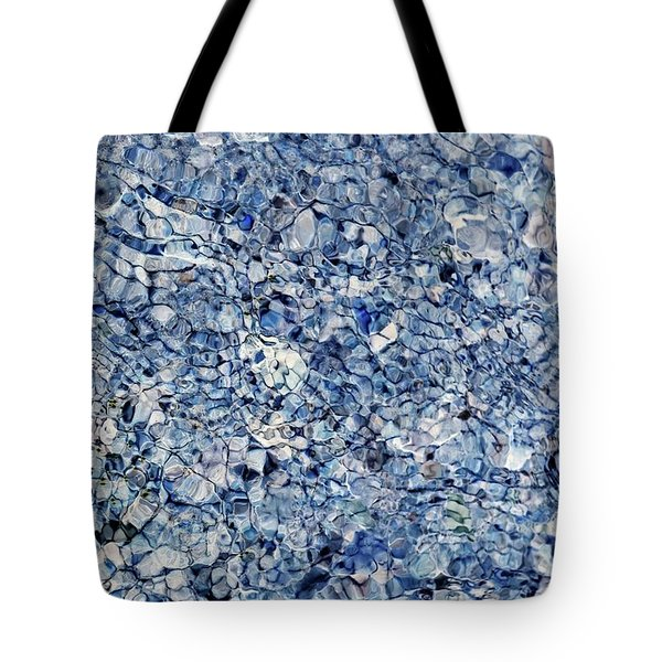 River Reflections Blue Tote Bag