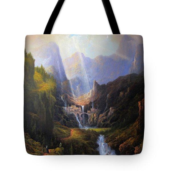 Rivendell. The Last Homely House.  Tote Bag by Joe Gilronan