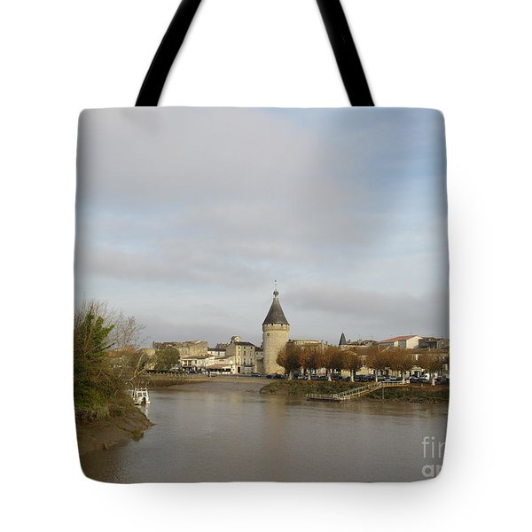 River Arrival To Libourne Tote Bag