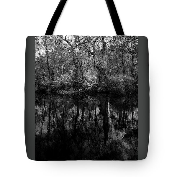 River Bank Palmetto Tote Bag by Marvin Spates