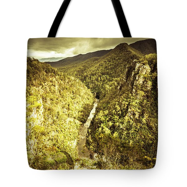 River Below Tote Bag