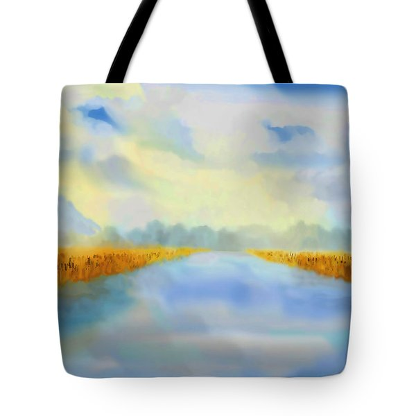 River Blue Tote Bag