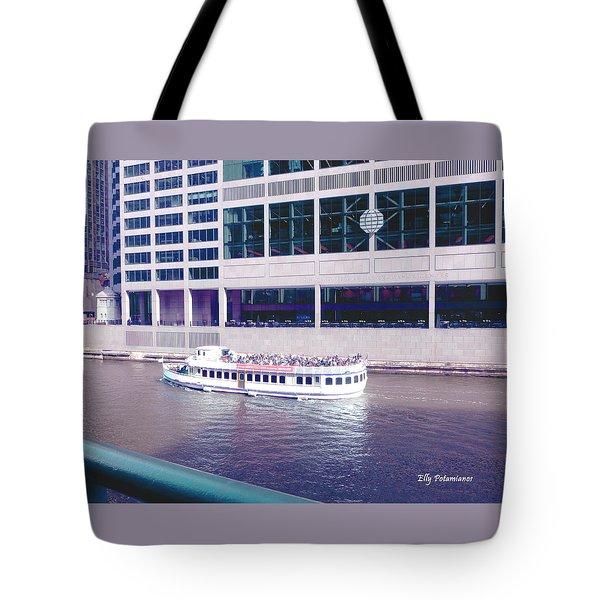 River Boat Tour Tote Bag