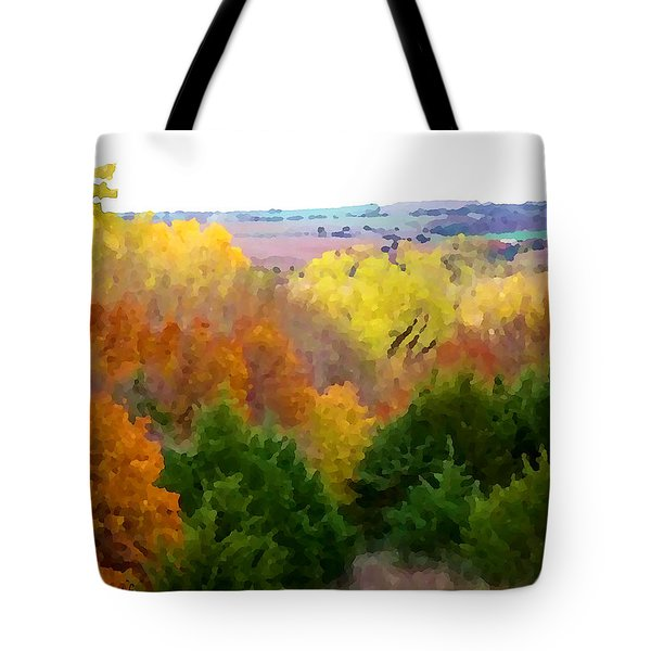 River Bottom In Autumn Tote Bag