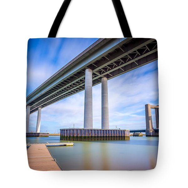 Tote Bag featuring the photograph River Bridges by Gary Gillette
