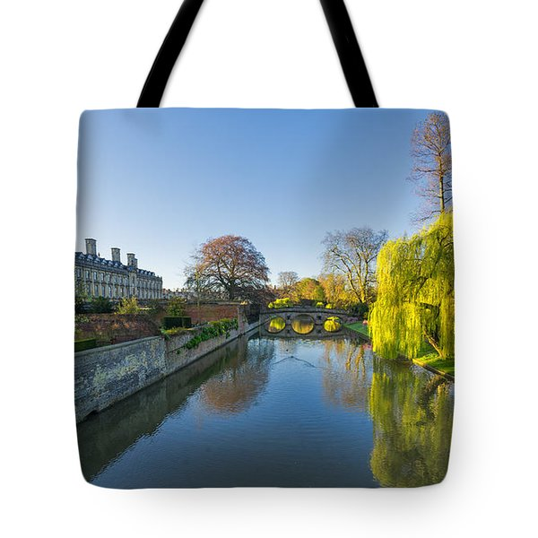 Tote Bag featuring the photograph River Cam by James Billings