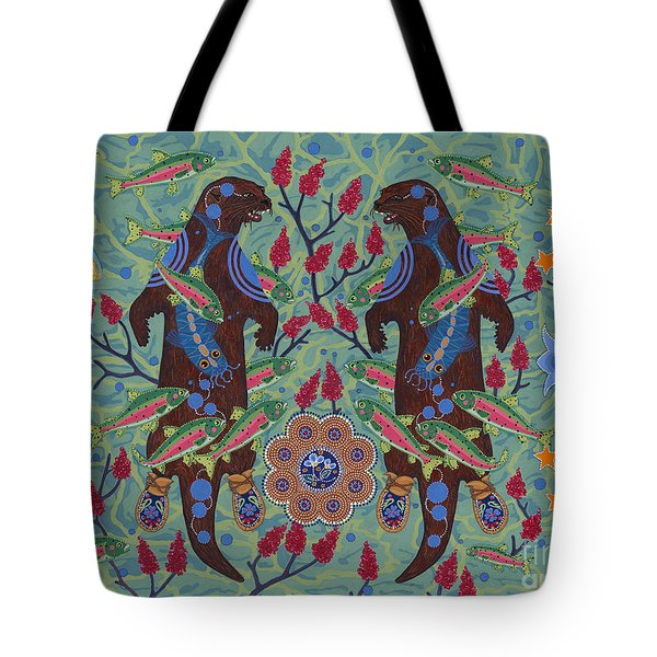 Tote Bag featuring the painting River Spirit by Chholing Taha
