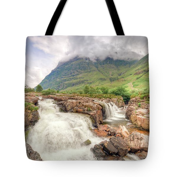 River Coe And Bidean Nam Bian Tote Bag