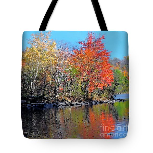 River Color Tote Bag