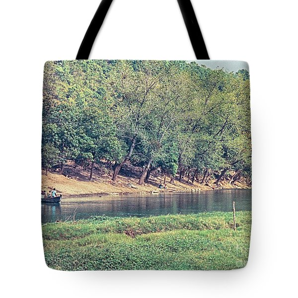 Tote Bag featuring the photograph River Crossing by Charles McKelroy