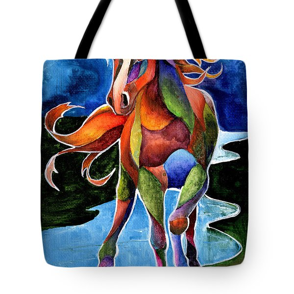 River Dance 1 Tote Bag