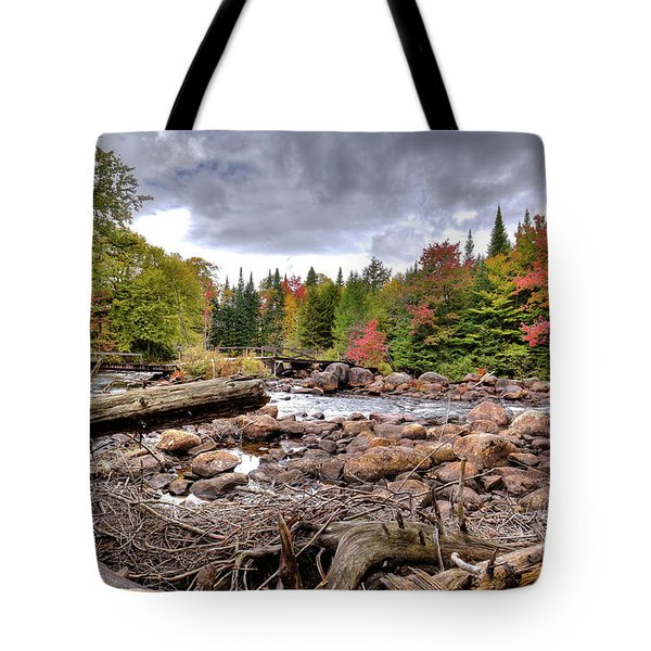 Tote Bag featuring the photograph River Debris At Indian Rapids by David Patterson