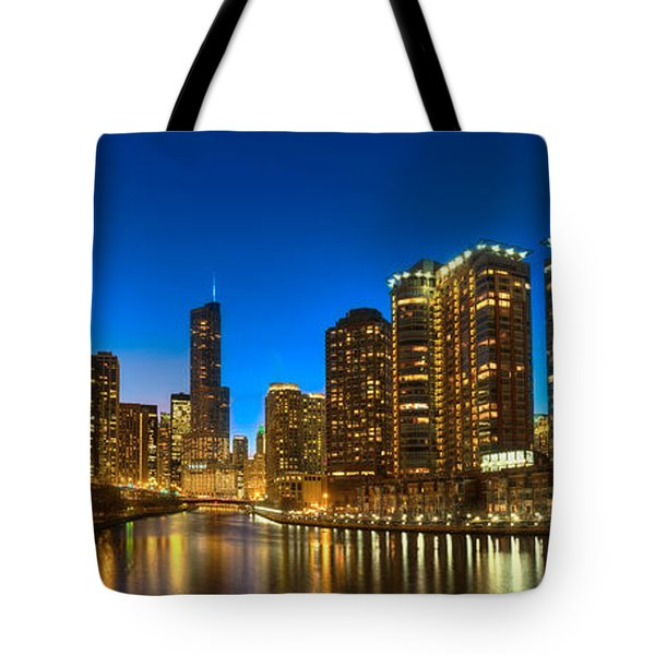 River East Chicago Tote Bag