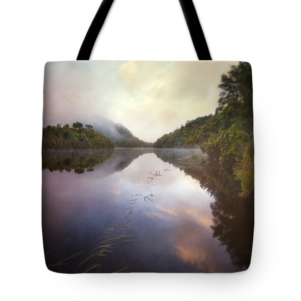 River Fire  Tote Bag