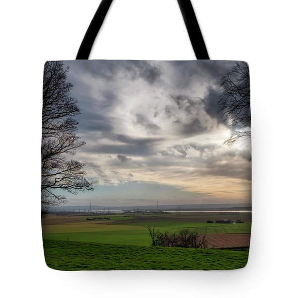Tote Bag featuring the photograph River Forth View From Clackmannan Tower by Jeremy Lavender Photography