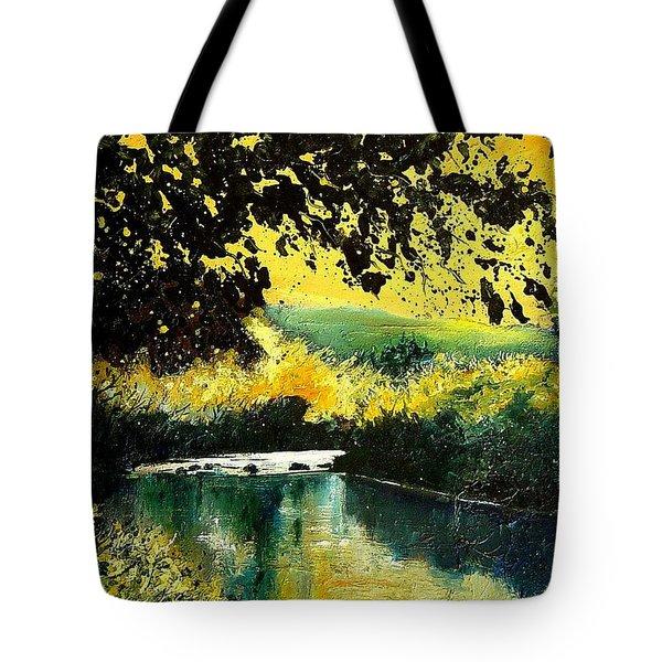 River Houille  Tote Bag by Pol Ledent