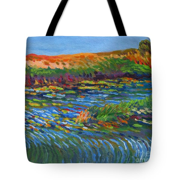 River In Bloom Tote Bag by Vanessa Hadady BFA MA
