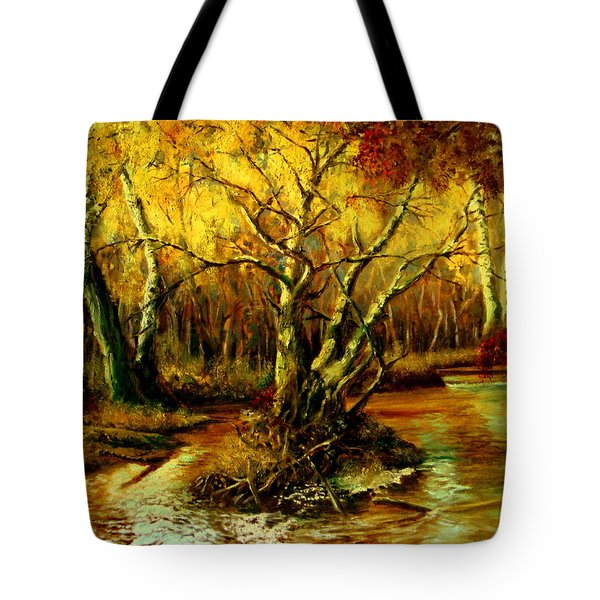 River In The Forest Tote Bag