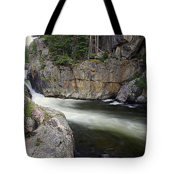 River In The Rockies Tote Bag