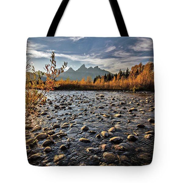 River In The Tetons Tote Bag
