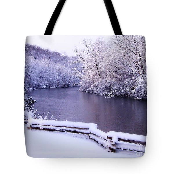 River In Winter Tote Bag by Phil Perkins