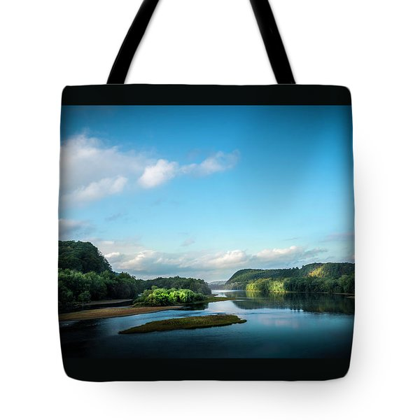 Tote Bag featuring the photograph River Islands by Marvin Spates