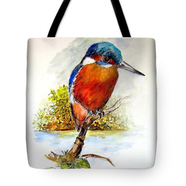 River Kingfisher Tote Bag