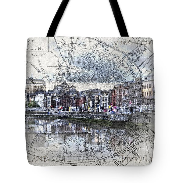 River Liffey Dublin Tote Bag