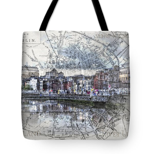 River Liffey Dublin Tote Bag