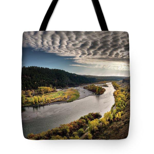 River Light Tote Bag by Leland D Howard