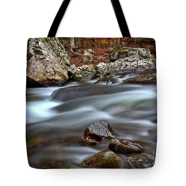 Tote Bag featuring the photograph River Magic by Douglas Stucky