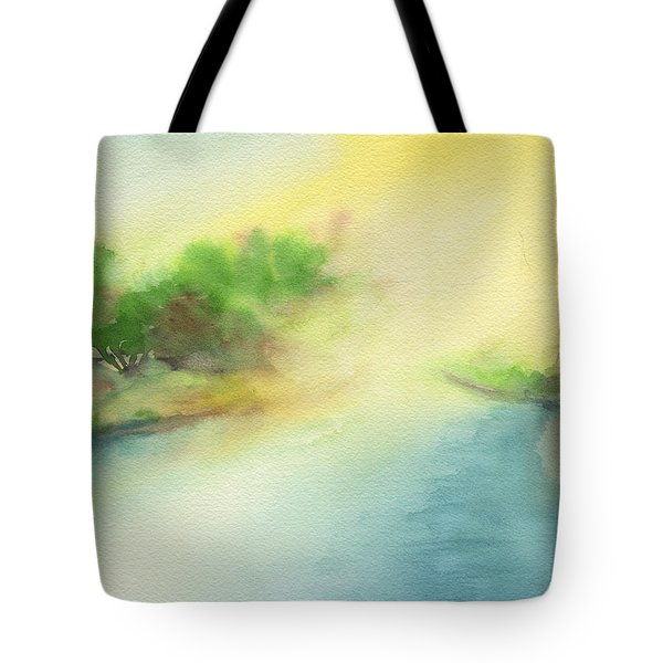 River Morning Tote Bag by Frank Bright