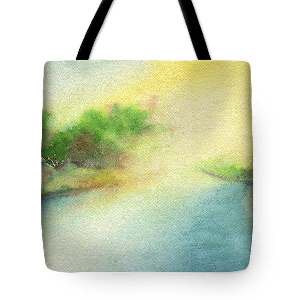 River Morning Tote Bag