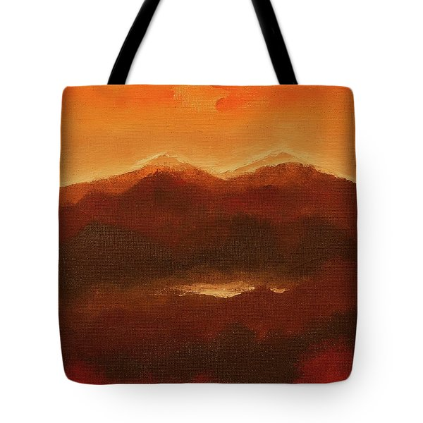 River Mountain View Tote Bag