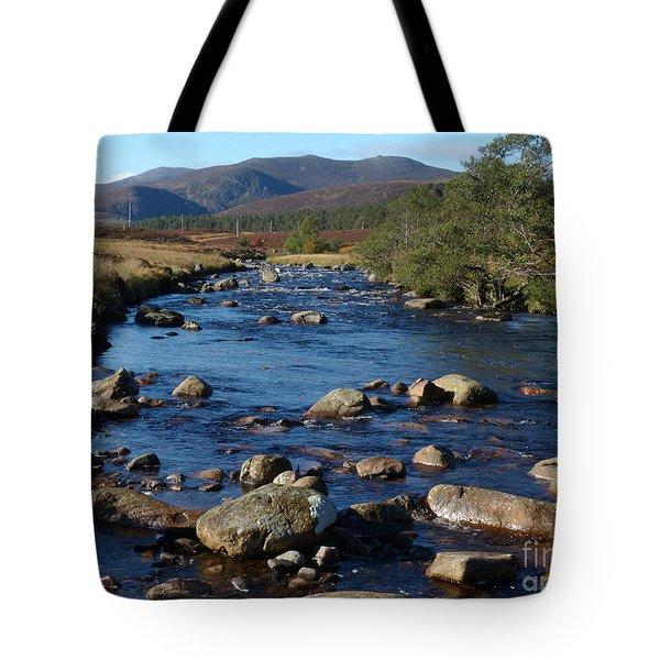 River Muick And Conachcraig Tote Bag
