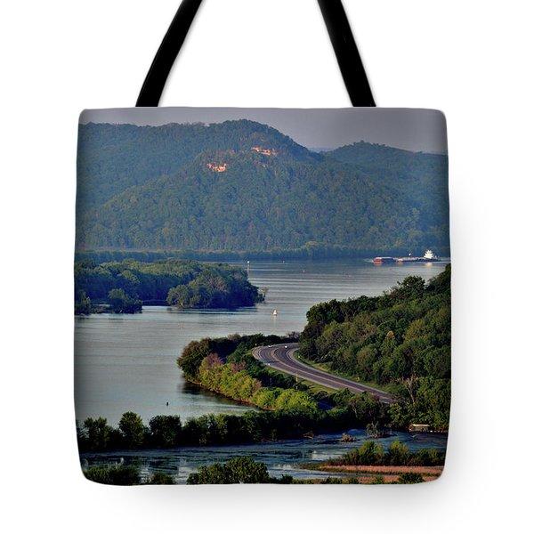 River Navigation Tote Bag
