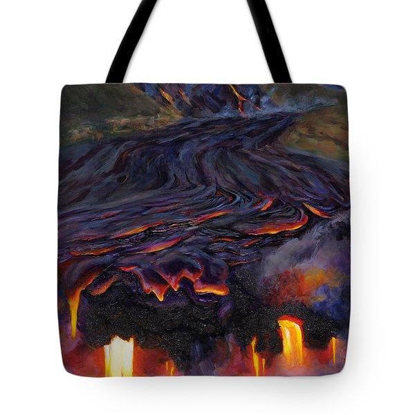 River Of Fire - Kilauea Volcano Eruption Lava Flow Hawaii Contemporary Landscape Decor Tote Bag