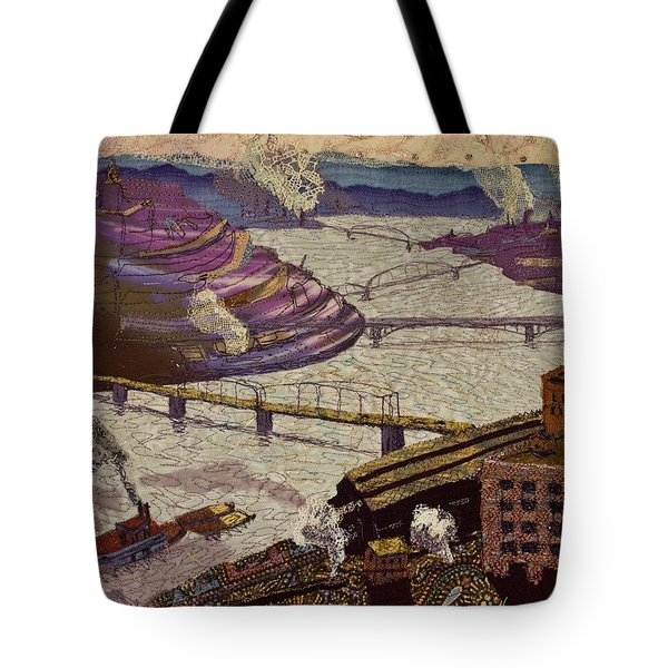 River Of Industry Tote Bag
