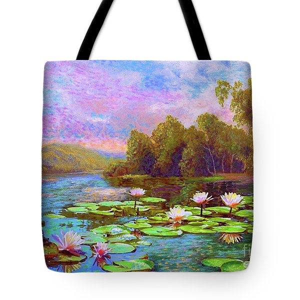 The Wonder Of Water Lilies Tote Bag