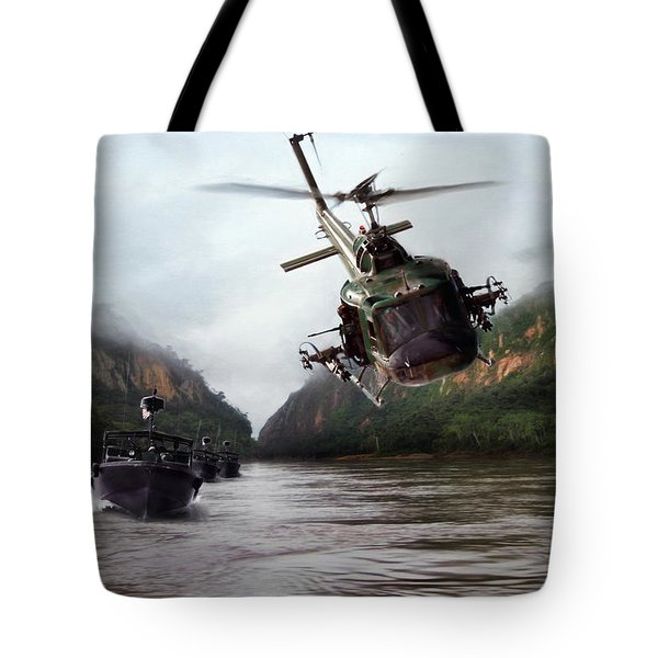 River Patrol Tote Bag by Peter Chilelli