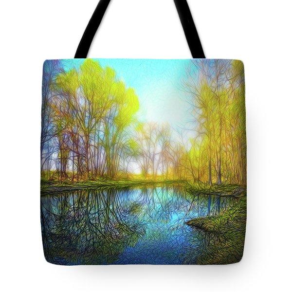 River Peace Flow Tote Bag