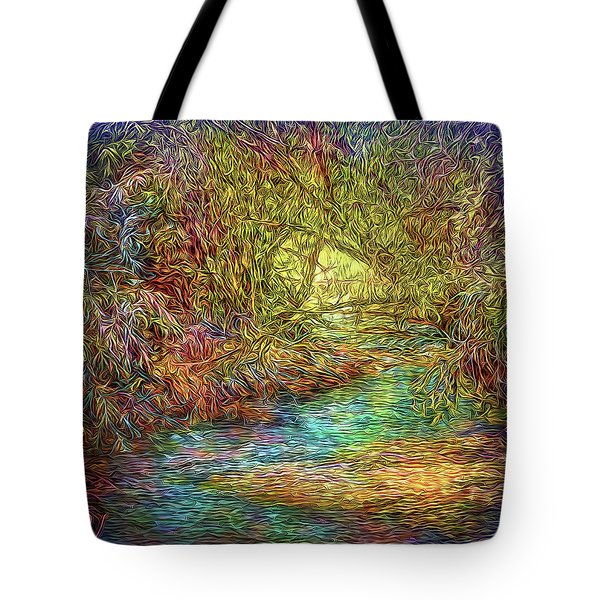 River Peace Remembering Tote Bag by Joel Bruce Wallach