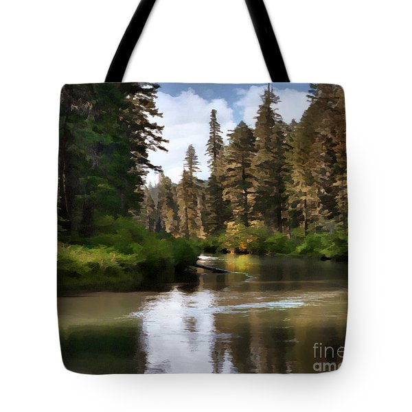 Tote Bag featuring the painting Millers Creek Painterly by Peter Piatt