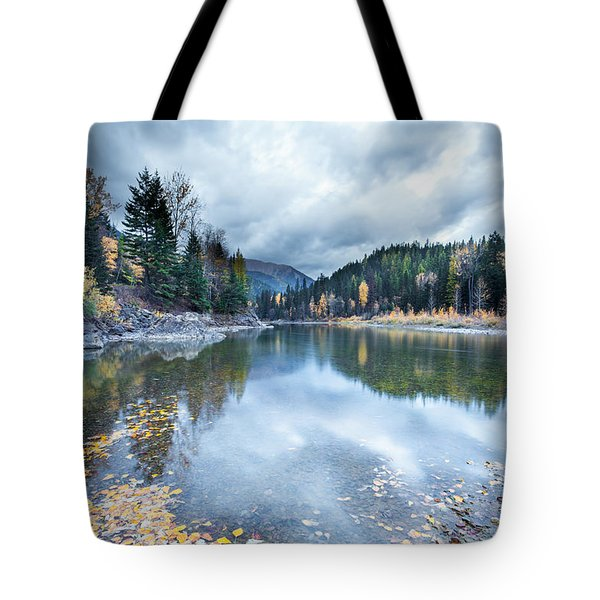 Tote Bag featuring the photograph River Reflections by Fran Riley
