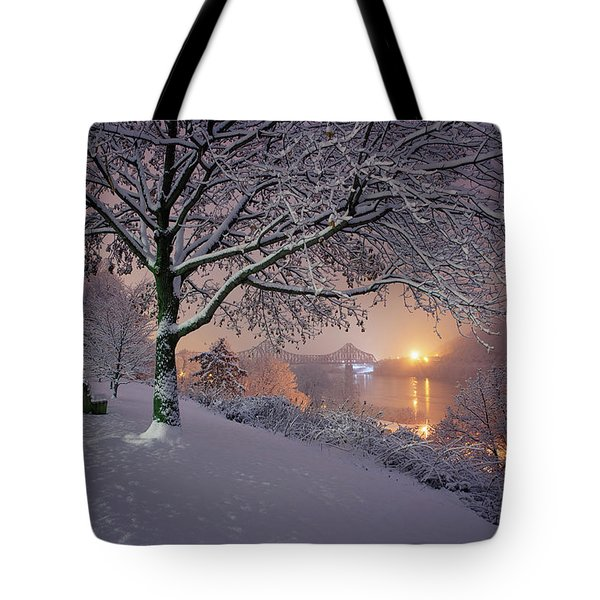 Tote Bag featuring the photograph River Road  by Emmanuel Panagiotakis