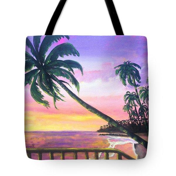 River Road Sunrise Tote Bag