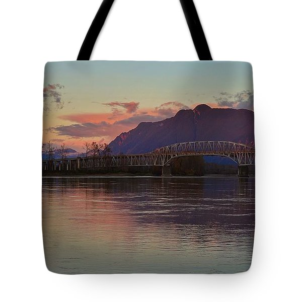 Fraser River, British Columbia Tote Bag