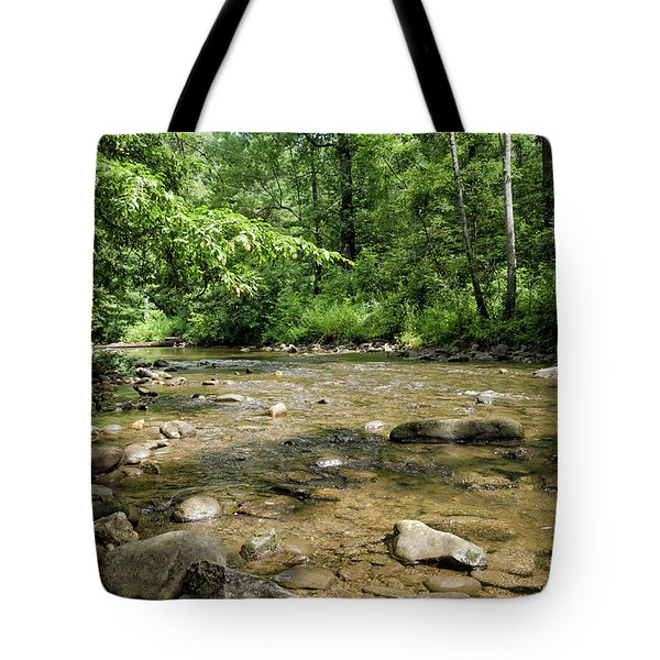 Tote Bag featuring the photograph River Rock Shine  by Claire Turner
