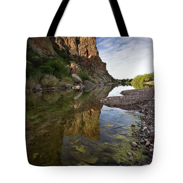 River Serenity Tote Bag by Sue Cullumber