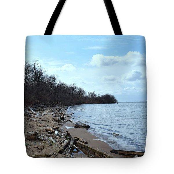 Delaware River Shoreline Tote Bag